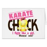 Polluelo 1 del karate tarjeta de felicitación