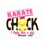 Polluelo 1 del karate tarjeta postal