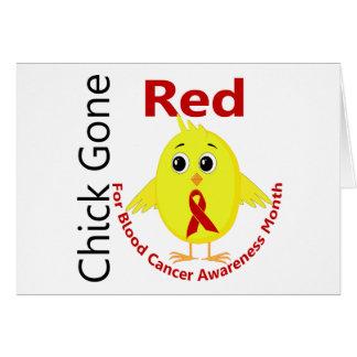 Polluelo 1 del mes de la conciencia del cáncer de tarjetas
