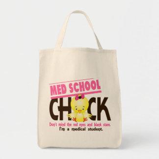 Polluelo 2 de la escuela del MED Bolsa Tela Para La Compra