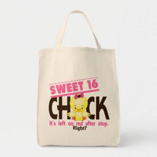 Polluelo 2 del dulce 16 bolsa lienzo