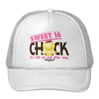 Polluelo 2 del dulce 16 gorras de camionero