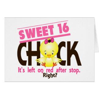 Polluelo 2 del dulce 16 felicitaciones