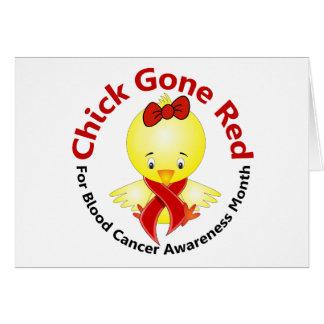 Polluelo 2 del mes de la conciencia del cáncer de  tarjeton