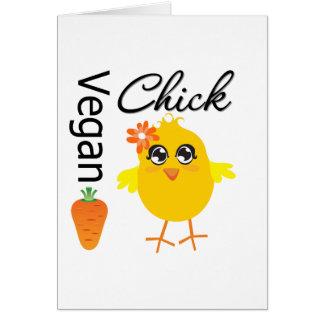 Polluelo 2 del vegano tarjeton