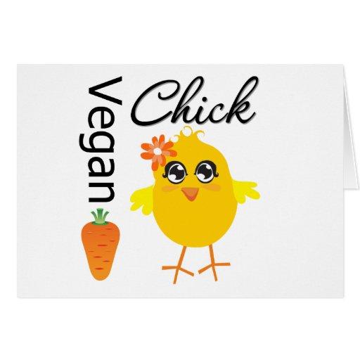 Polluelo 2 del vegano tarjeta de felicitación