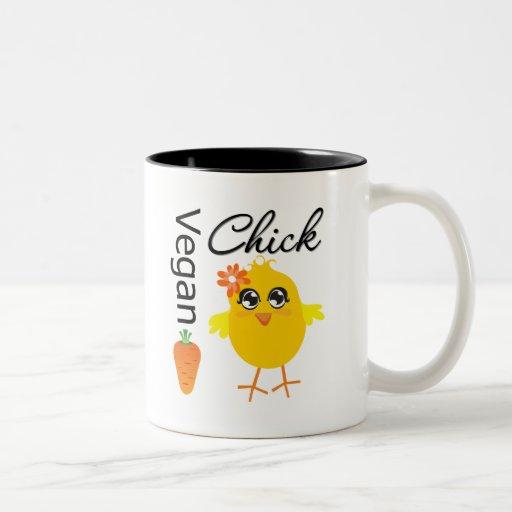 Polluelo 2 del vegano tazas de café