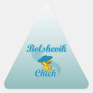 Polluelo #3 de Bolchevique Pegatinas Triangulo