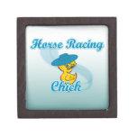 Polluelo #3 de la carrera de caballos cajas de joyas de calidad
