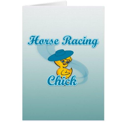 Polluelo #3 de la carrera de caballos tarjeta