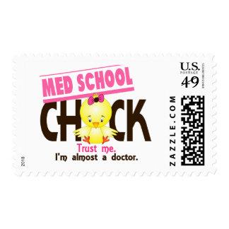 Polluelo 3 de la escuela del MED Timbres Postales