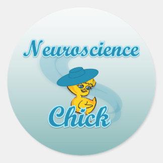 Polluelo #3 de la neurología pegatina redonda