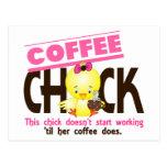 Polluelo 3 del café tarjetas postales