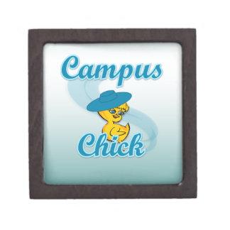 Polluelo #3 del campus caja de recuerdo de calidad