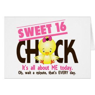 Polluelo 3 del dulce 16 tarjetas