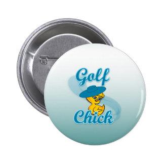 Polluelo #3 del golf pin redondo de 2 pulgadas