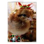 Polluelo 3 del navidad tarjetón