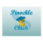 Polluelo #3 del Pinochle Tarjeta Postal