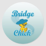 Polluelo #3 del puente pegatina redonda