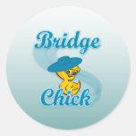 Polluelo #3 del puente pegatinas redondas