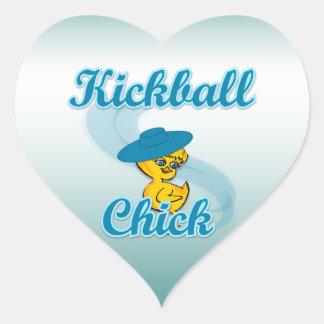 Polluelo #3.png de Kickball Calcomania Corazon Personalizadas