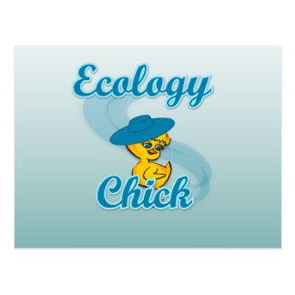 Polluelo #4 de la ecología postales