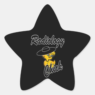 Polluelo #4 de la radiología pegatina en forma de estrella