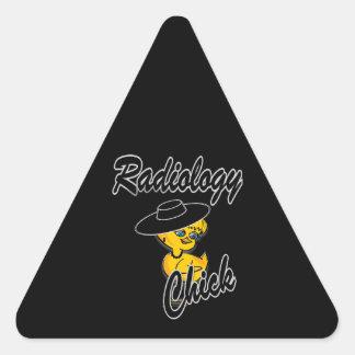 Polluelo #4 de la radiología pegatina triangular