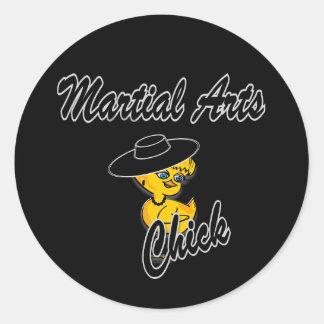 Polluelo #4 de los artes marciales pegatina redonda