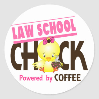 Polluelo 4 del colegio de abogados pegatina redonda