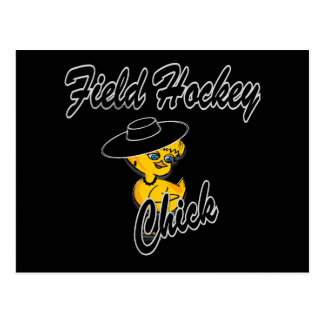 Polluelo #4 del hockey hierba tarjetas postales