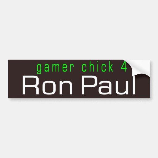 polluelo 4 Ron Paul del videojugador Pegatina De Parachoque