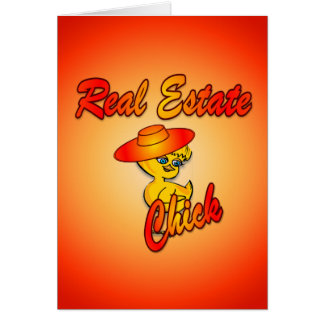 Polluelo #5 de las propiedades inmobiliarias tarjeta de felicitación