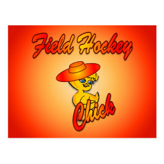 Polluelo #5 del hockey hierba postal