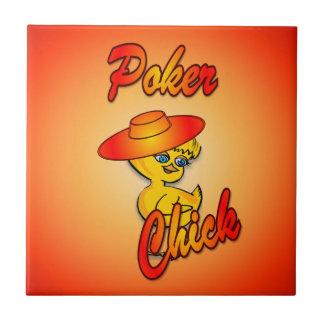 Polluelo #5 del póker tejas  cerámicas