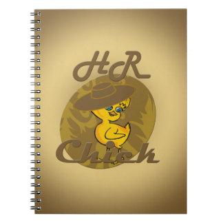 Polluelo #6 de la hora libro de apuntes con espiral
