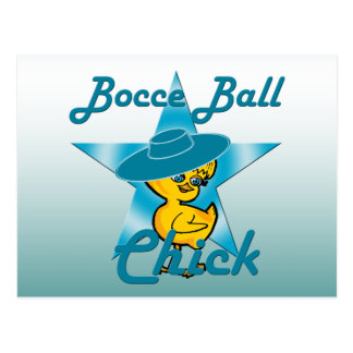 Polluelo #7 de la bola de Bocce Tarjeta Postal