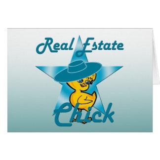 Polluelo #7 de las propiedades inmobiliarias tarjeta de felicitación