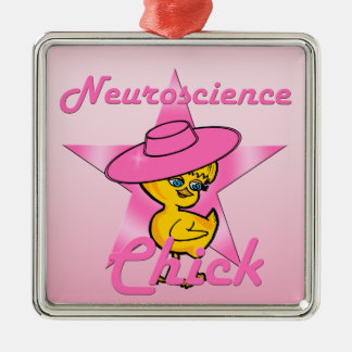 Polluelo #8 de la neurología adorno navideño cuadrado de metal