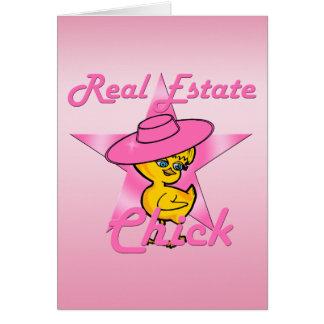 Polluelo #8 de las propiedades inmobiliarias tarjeta de felicitación