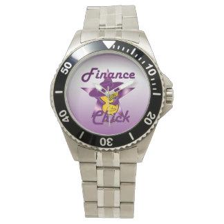 Polluelo #9 de las finanzas reloj de mano