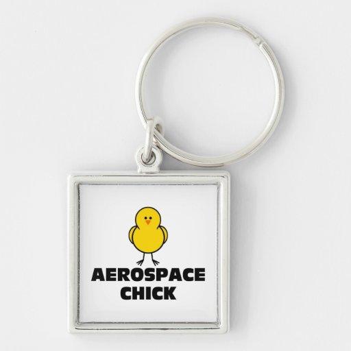 Polluelo aeroespacial llavero personalizado