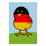 Polluelo alemán impresiones