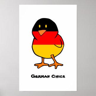 Polluelo alemán poster