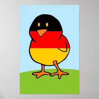 Polluelo alemán póster