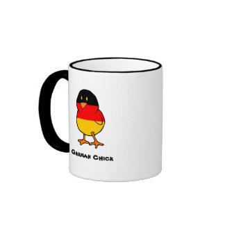 Polluelo alemán taza de dos colores
