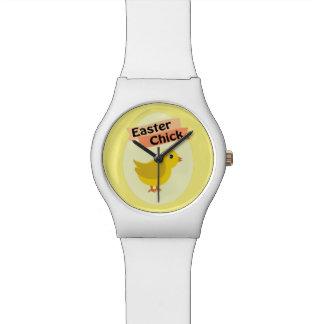 Polluelo amarillo de Pascua Relojes