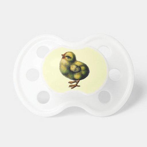 Polluelo amarillo del bebé de Fluffly del pío del  Chupete De Bebé