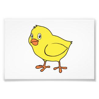 Polluelo amarillo feliz lindo arte fotográfico