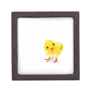 Polluelo amarillo lindo del bebé caja de recuerdo de calidad
